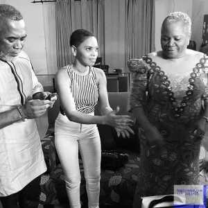 Chidinma Pictured With Nollywood Stars, Onyeka Onwenu & Zack Orji
